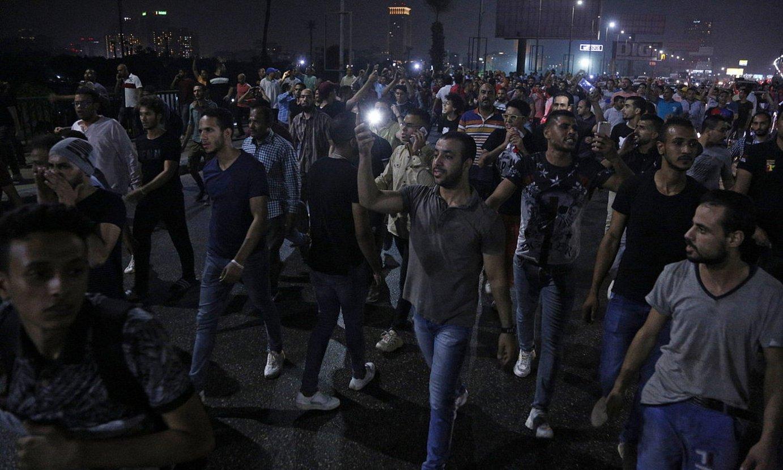 Iaz izandako manifestazio jendetsuen irudi bat, Kairon. ©EPA / EFE