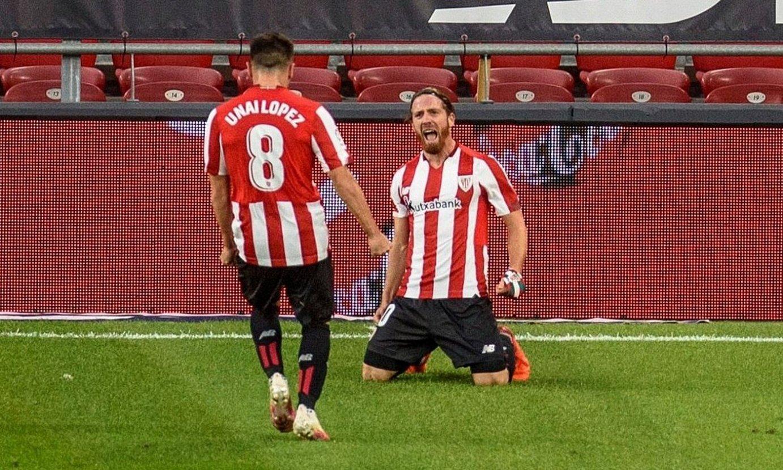 Unai Lopez eta Muniain, Sevillaren aurkako gol bat ospatzen. ©J. ZORRILLA / EFE