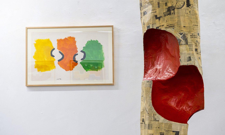 Agustin Ibarrola artistaren azken bi hamarkadetako lanak biltzen dituen erakusketa bat zabaldu du Bilboko Lumbreras galeriak. ©MARISOL RAMIREZ / FOKU