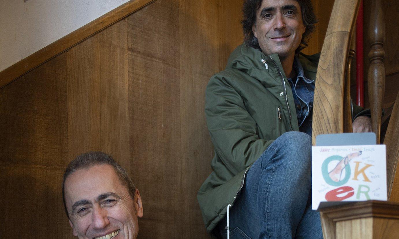 Jabier Muguruza eta Mikel Azpiroz, atzo, Donostian. ©JUAN CARLOS RUIZ / FOKU