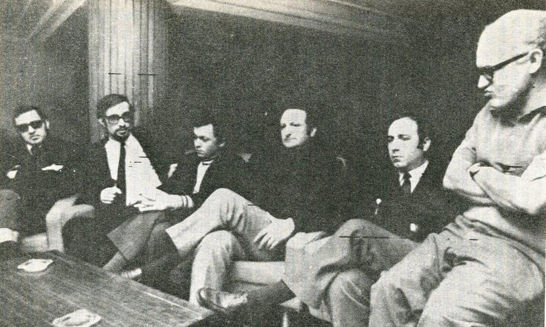 Burgosko prozesuan aritutako defentsako abokatu taldeko zenbait kide.