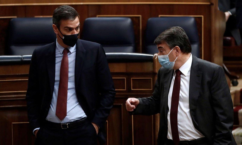 Sanchez eta Esteban Kongresuan, joan den urrian. ©MARISCAL / EFE
