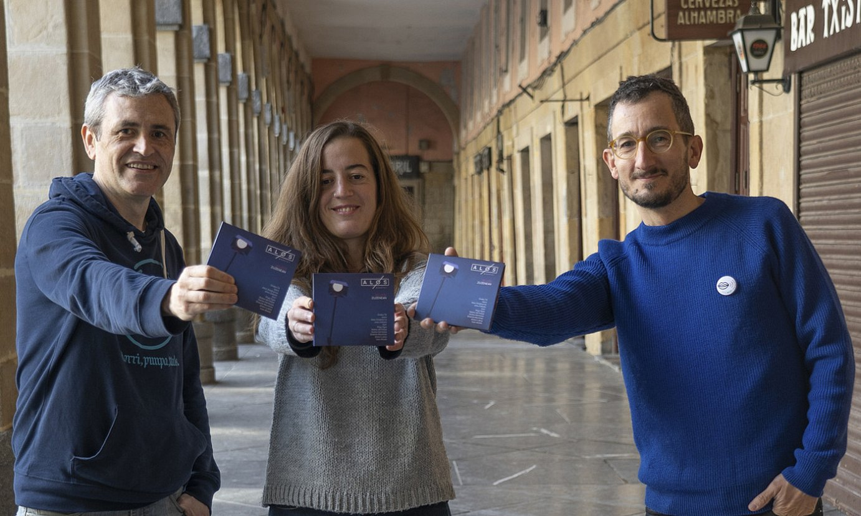 Alos Quarteteko kide Francisco Herrero, Lorena Nuñez eta Xabier Zeberio. ©ANDONI CANELLADA / FOKU