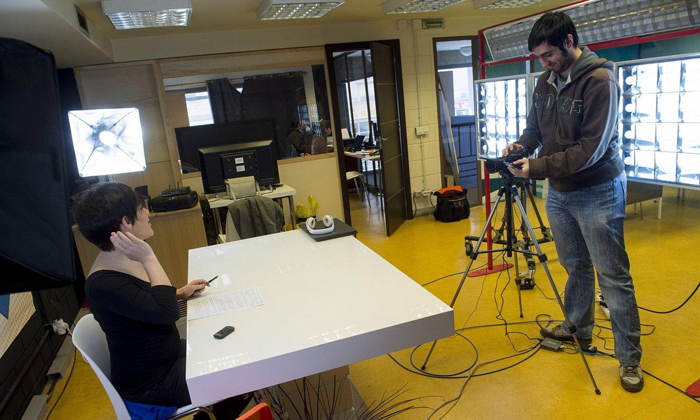 Xaloa telebistaren estudioak, Berriozarren, artxiboko irudi batean. ©IÑIGO URIZ / FOKU