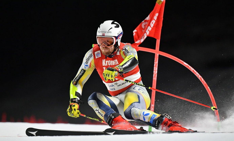 <b>Aleksander Aamodt. </b>Eski alpinoko Munduko Kopa irabazi zuen, nagusitasunez. ©PHILIPP GUELLAND / EFE
