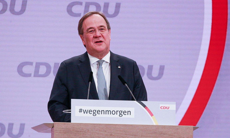 Armin Laschet CDUko presidente berria, atzo, Berlinen, alderdi kristau-demokrataren kongresuan. ©CHRISTIAN MARQUARDT / EFE