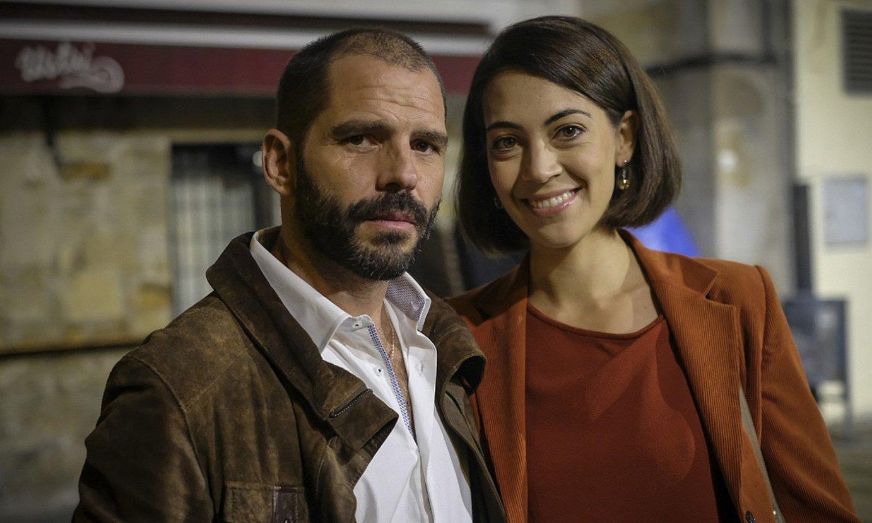 Jorge Monje eta Barbara Rivas, <em>Altsasu</em> telesaileko aktoreak. ©ETB