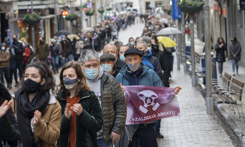 Jende ugari bildu zen manifestazioan. / GORKA RUBIO / FOKU