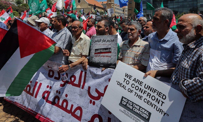 Mendeko Akordioaren aurkako protesta bat, Beiruten. ©NABIL MOUNZER / EFE