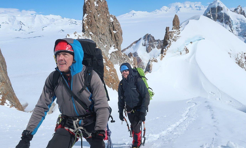 Adolfo Madinabeitia eta Julen Berrueko Patagonian. ©BERRIA