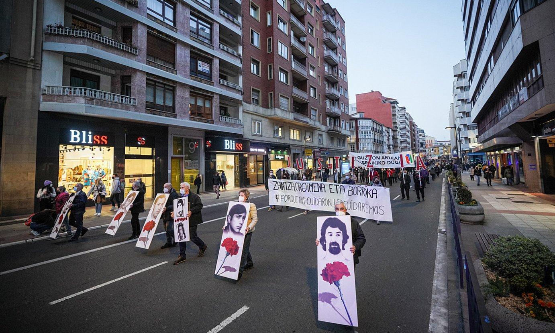 LAB, ELA, ESK eta Steilas sindikatuek deituta, manifestazioa egin zuten atzo arratsaldean, Gasteizen. ©ENDIKA PORTILLO / FOKU