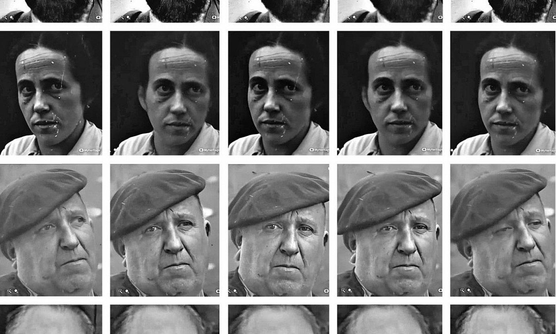 Hainbat erabiltzailek sarean jarri dituzte Deep Nostalgia tresna erabilita egindako animazioak. Goitik behera: Sabino Arana eta Elvira Zipitria (Hiru Damatxok egina), Txirrita (Unai Gaztumendik) eta Jon Mirande (Beñat Sarasolak). ©BERRIA