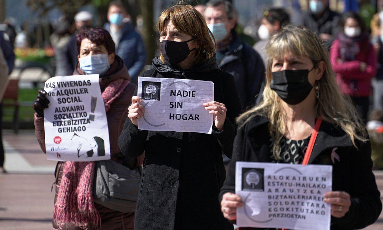 Donostian atzo egin zuten manifestazioa. ©GOTZON ARANBURU / FOKU