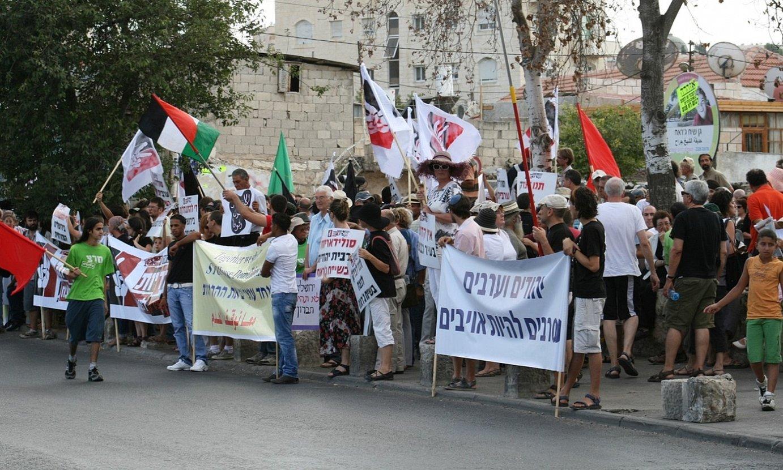 Manifestazio bat Jerusalem Ekialdeko Seikh Jarrah auzoan, palestinarren etxegabetzeen aurka. ©BERRIA