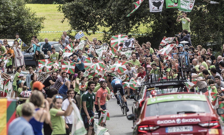 2018ko Frantziako Tourrean Senpere eta Ezpeleta artean jokatutako erlojupekoa. ©JAGOBA MANTEROLA / FOKU