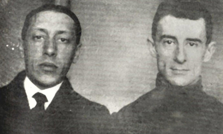 Igor Stravinski eta Maurice Ravel, 1911. urtean, Parisen. ©BERRIA