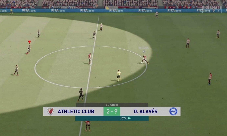 Alaves 9-2 Athletic. ©GAME ERAUNTSIA