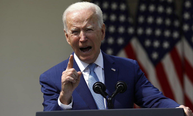 Joe Biden presidentea, atzo eginiko agerraldian, Etxe Zurian. ©YURI GRIPAS / EFE