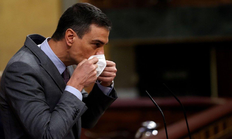 <b>Eztabaida.</b> Pedro Sanchez Espainiako Gobernuko presidentea, atzo, Kongresuan. ©CHEMA MOYA / EFE