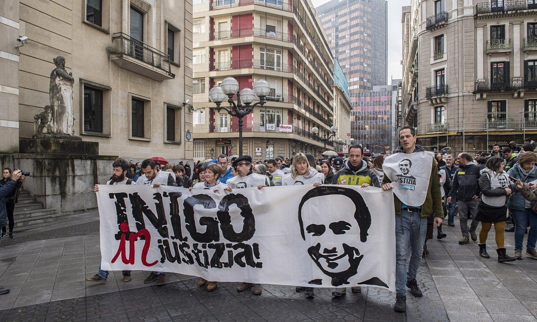 <em>Cabacas auzian</em> justizia eskatzeko Bilbon 2018ko abenduan egindako manifestazio bat. ©GORKA RUBIO / FOKU