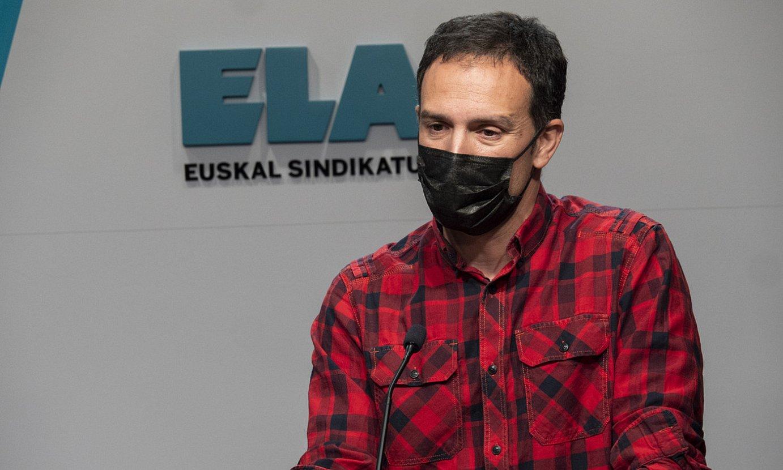 Mitxel Lakuntza ELAko idazkari nagusia, artxiboko irudi batean. ©MONIKA DEL VALLE / FOKU