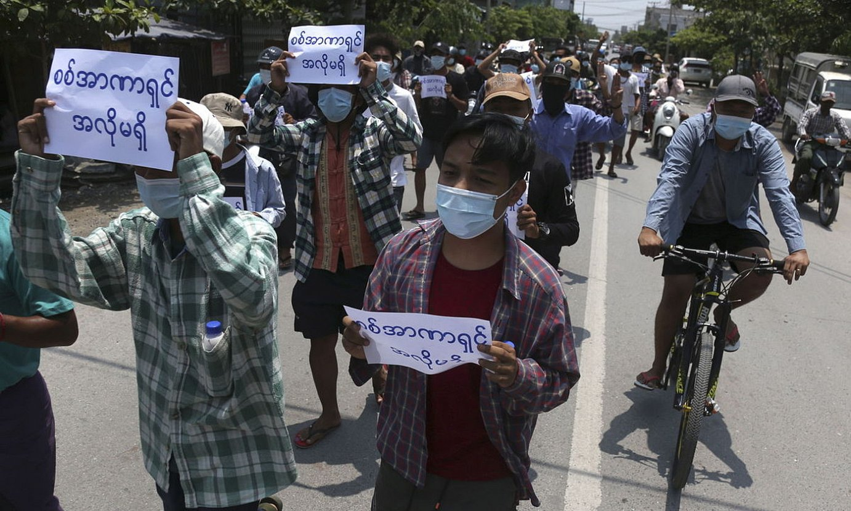 Gobernuaren kontrako protestak egin dituzte azken asteetan Myanmarren. ©STR