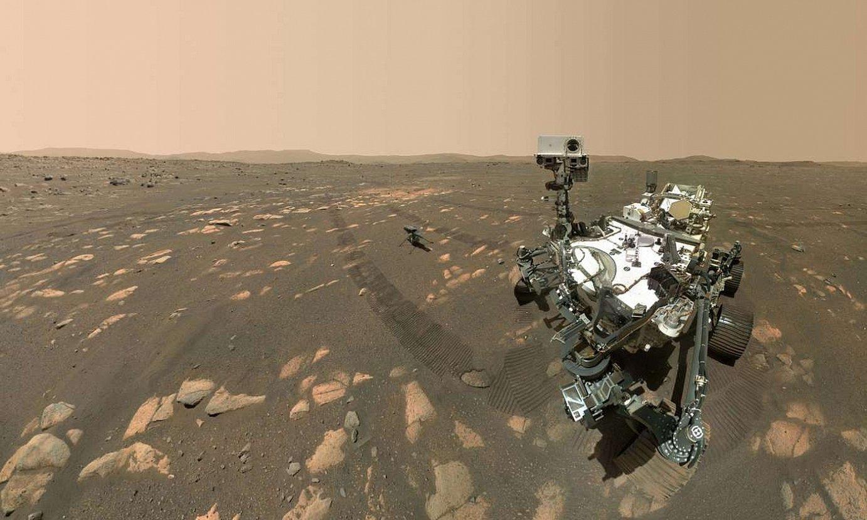<b><em>Perseverance</em>.</b> NASAk bidalitako ibilgailua, Marten. ©NASA/JPL-CALTECH