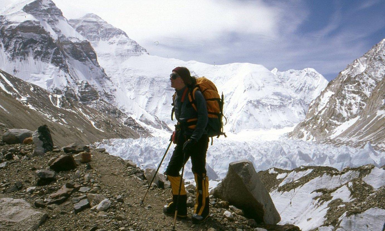 Yolanda Martin, Everestera igotzeko bidean, 1998an. ©YOLANDA MARTIN