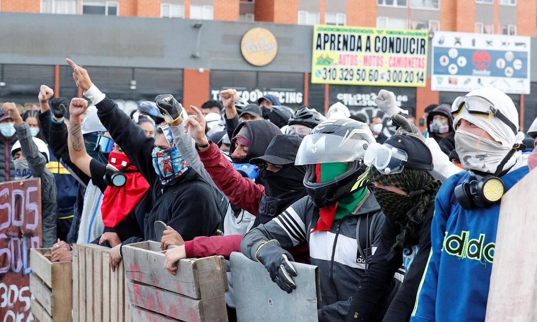 Manifestazio bat, joan den astelehenean, Bogota hiriburuan. ©MAURICIO DUEÑAS CASTAÑEDA / EFE