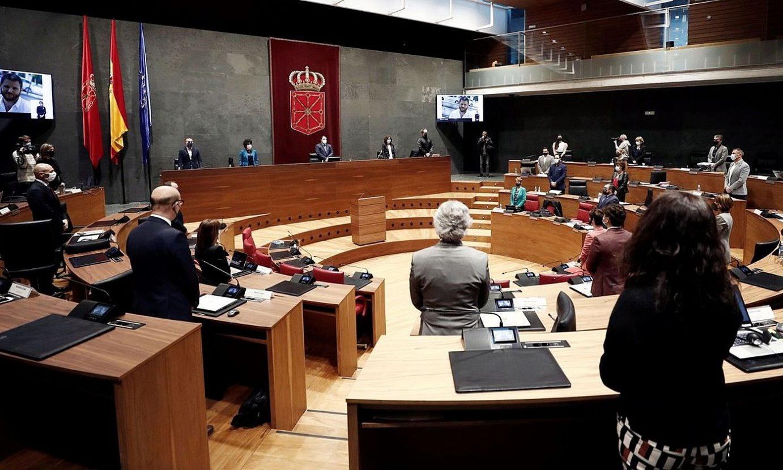 Nafarroako Parlamentuko bilkura bat. ©JESUS DIGES / EFE