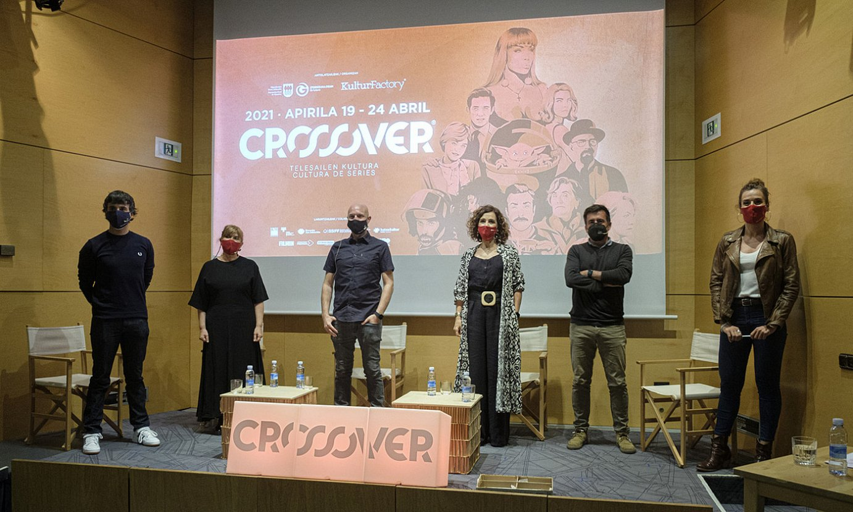 Apirilean Crossover jaialdian zenbait profesionali egindako aitortza ekitaldia. ©JON URBE / FOKU