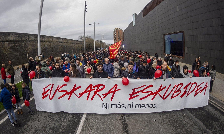 Euskararen aldeko manifestazio bat, Iruñean. ©JAIZKI FONTANEDA / FOKU