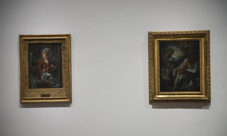 Luis Paretek Micaela Fourdinier emazteari egindako erretratua, eta bere autorretratua, Bilboko Arte Ederren Museoan. ©MONIKA DEL VALLE / FOKU