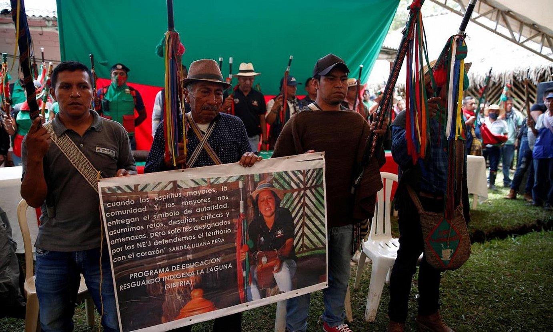 Apirilean hil zuten Sandra Liliana Peña Chocue gobernadore indigena, Caucan. ©ERNESTO GUZMAN JR. / EFE
