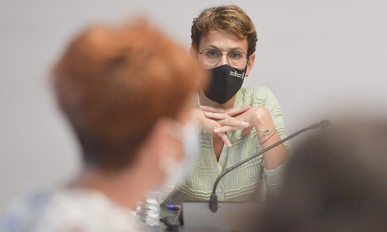 <b>Maria Txibite, atzo, Nafarroako Parlamentuan.</b> ©IDOIA ZABALETA / FOKU