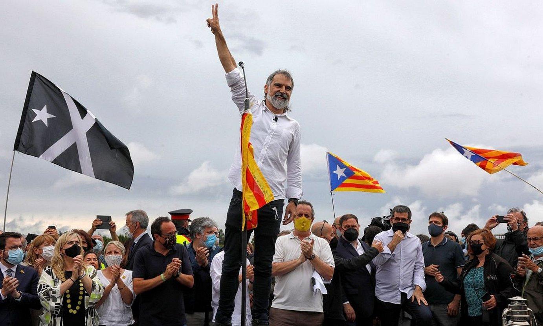 Jordi Cuixart Omnium Culturaleko presidentea, asteazkenean, aske geratu ondoren. ©SUSANNA SAEZ / EFE