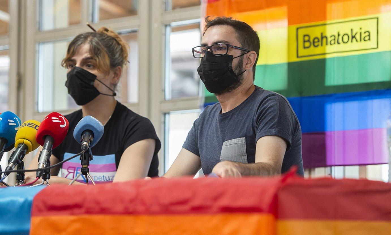 Montes eta Oribe atzo, LGTBI+ Behatokiaren aurkezpenean. ©M.DEL VALLE / FOKU