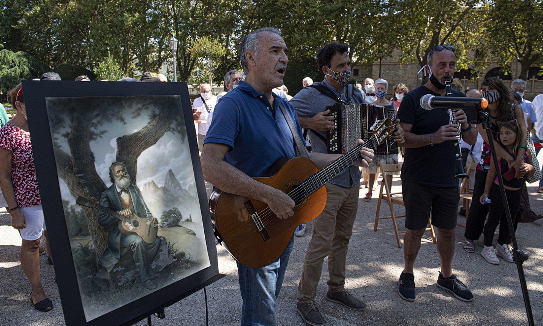 Zenbait musikari, iaz Iruñean egindako ekitaldian. ©JAGOBA MANTEROLA / FOKU