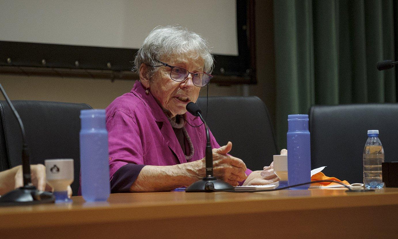 Antonella Picchio atzo, irekiera hitzaldia ematen Bilboko Ekonomia Feministari Buruzko VII. Kongresuan. ©ARITZ LOIOLA / FOKU