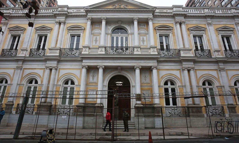 Santiago hiriburuko Pereira jauregian bilduko da gaurtik aurrera batzorde konstituziogilea. ©ELVIS GONZALEZ / EFE