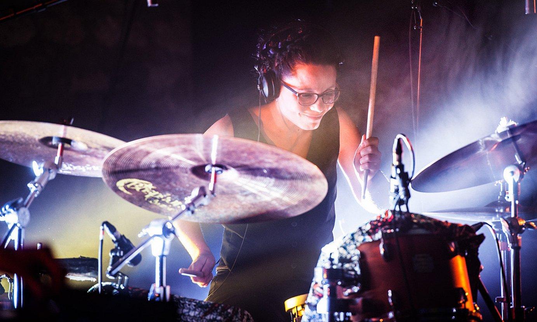 Anne Paceo bateria jotzaile frantziarra larunbatean ariko da, Iradier Arenako oholtzan. ©BERRIA