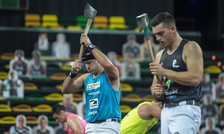 Iker Vicente eta Mikel Larrañaga, bakarkako finalean. Binakako txapela eskuratu nahi dute gaur. ©MARISOL RAMIREZ / FOKU