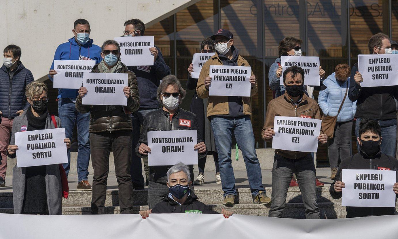 Sindikatuen protesta bat, enplegu publikoaren alde. ©ANDONI CANELLADA / FOKU