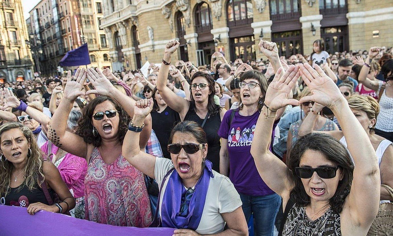 Indarkeria matxistaren aurkako protesta bat, Bilbon. ©MARISOL RAMIREZ / FOKU