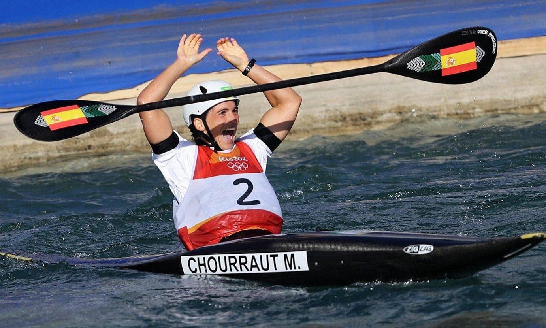 Chourraut, urrezko domina irabazi zuela jakin zuen momentuan. ©ORESTIS PANAGIOTOU / EFE