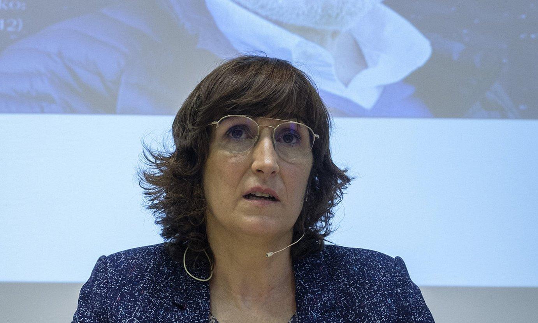 Lorea Agirrek gidatu zuen Torrealdairen ibilbideari buruzko saioa. ©JON URBE / FOKU