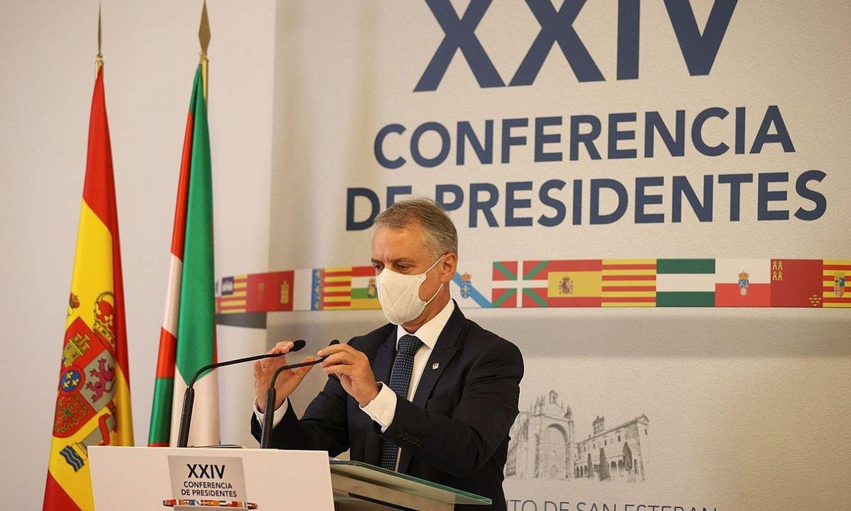 Eusko Jaurlaritzako lehendakari Iñigo Urkullu, atzo. ©JUANJO MARTIN / EFE