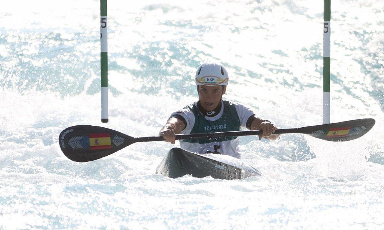 Maialen Chourraut piraguista, Tokioko Jokoetako finalean. ©DIEGO AZUBEL / EFE
