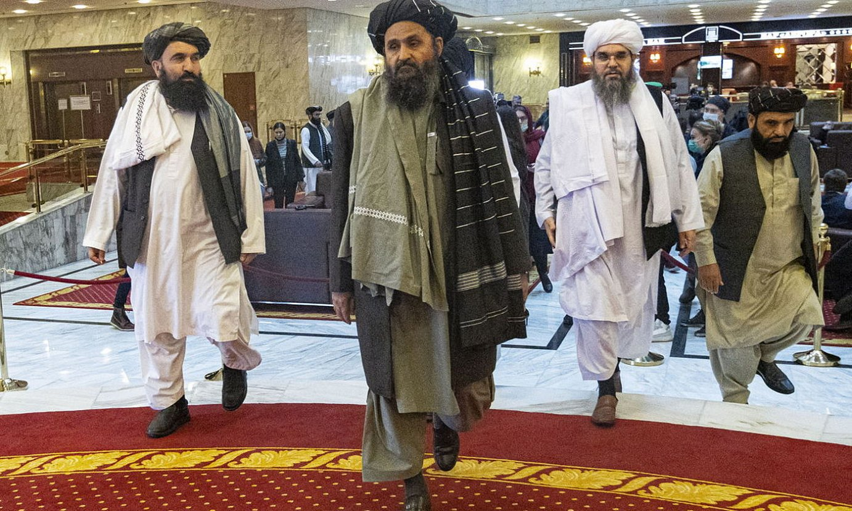 Abdul Ghani Baradar, Moskura eginiko bidaian, martxoan. ©A. ZEMLIANITXENKO / EFE