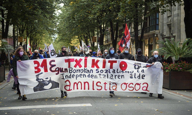 Iñaki Bilbaoren aldeko martxa, iazko urrian. ©MONIKA DEL VALLE / FOKU